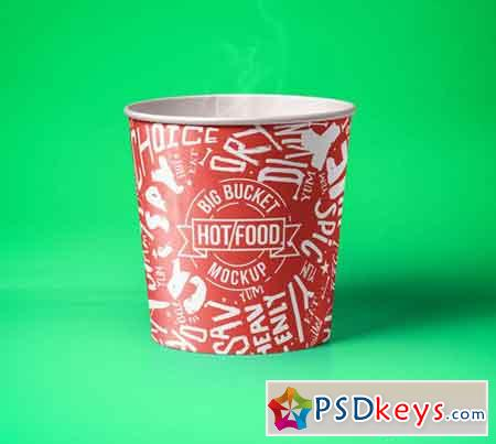 Hot Food Psd Bucket Mockup