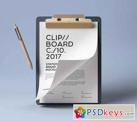 Clipboard Stationery Mockup Vol2
