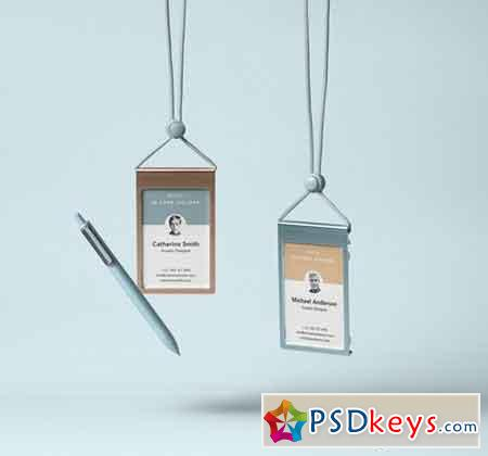 Identity Card Holder Mockup Vol 3