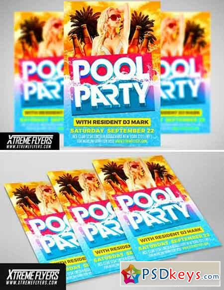 Pool Party Flyer Template 1815362
