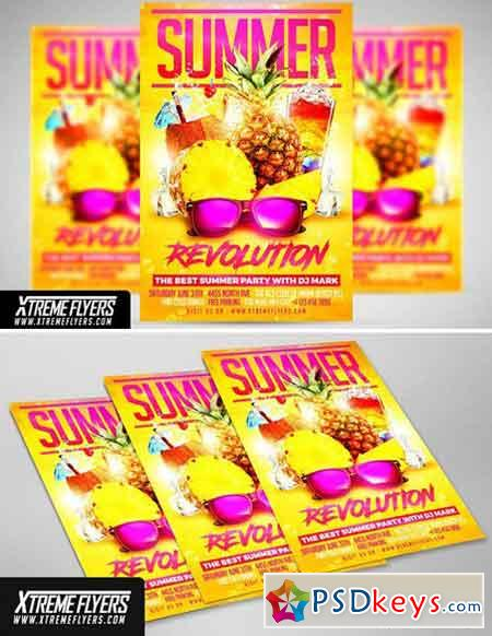 Summer Party Flyer Template 1815370