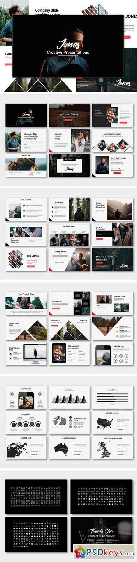 jones creative powerpoint template 1953689 » free download, Modern powerpoint