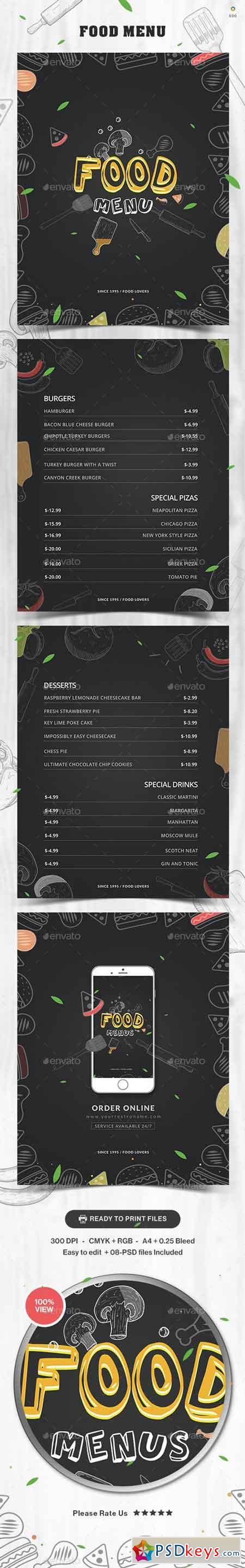 Food Menu Design 20891704