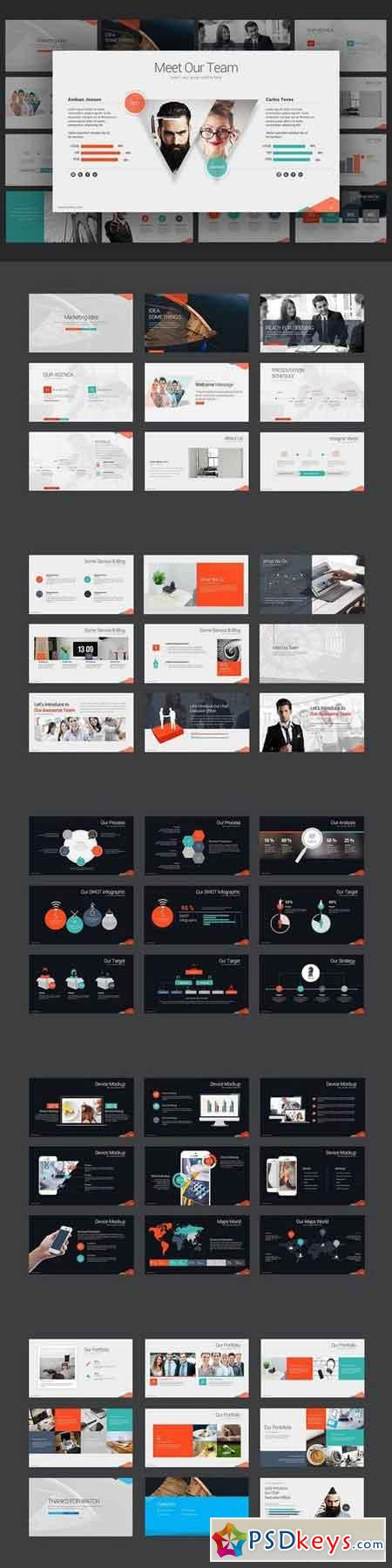 Marketing Idea PowerPoint Template 1378317 » Free Download Photoshop ...