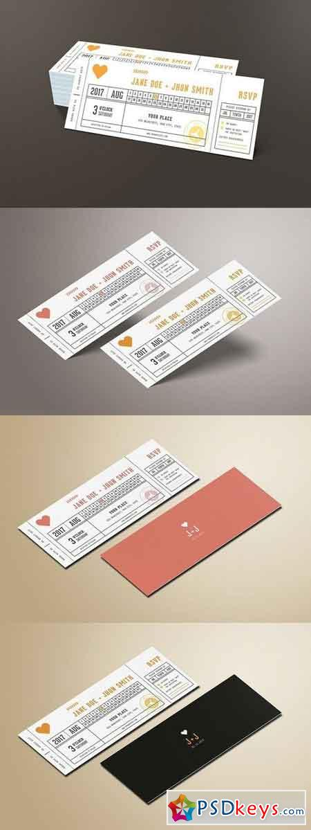 Wedding Invitation Ticket 1347434