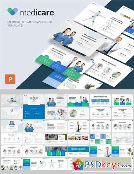 medicare - medical powerpoint template » free download photoshop, Modern powerpoint