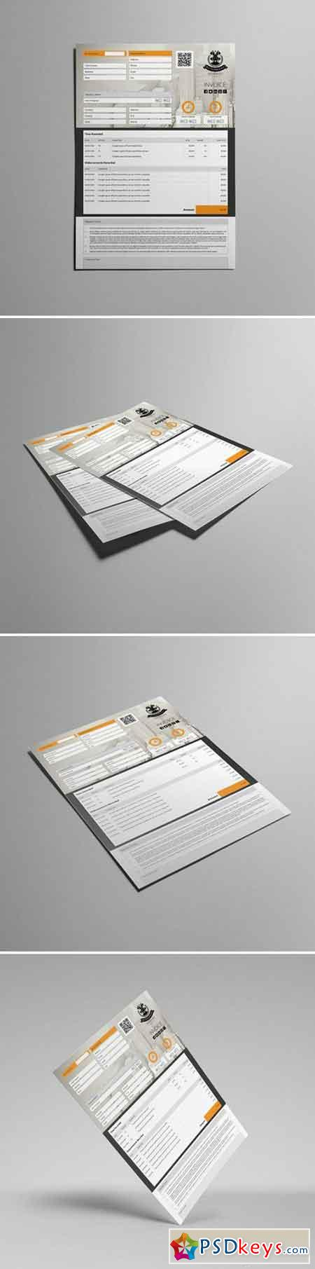 Business A4 Invoice Template 000110