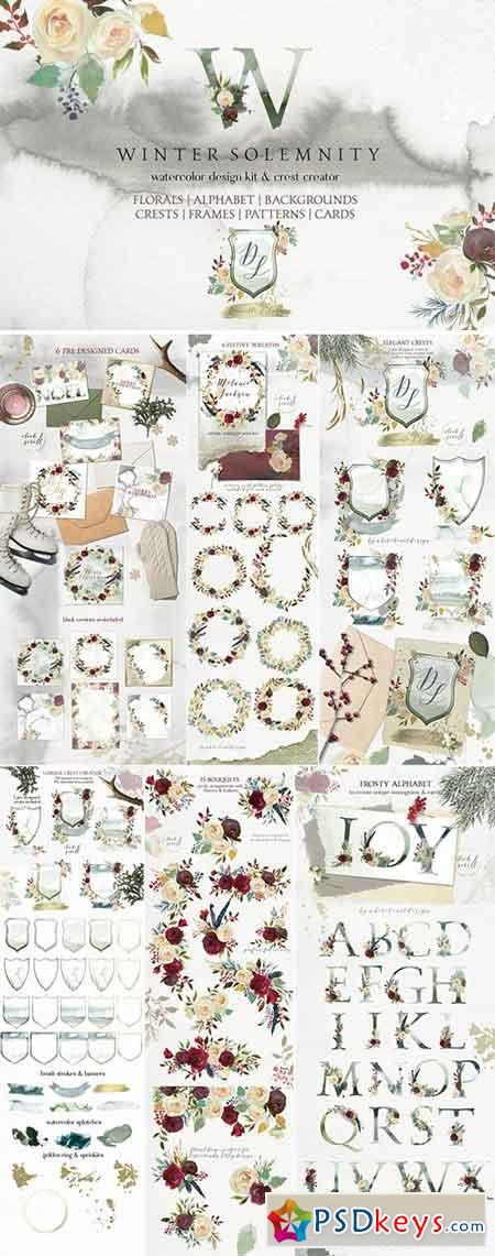 Winter Solemnity Floral Design Kit 1940998