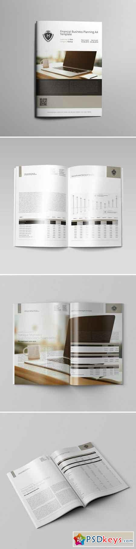 Financial Business Planning A4 Template 000121
