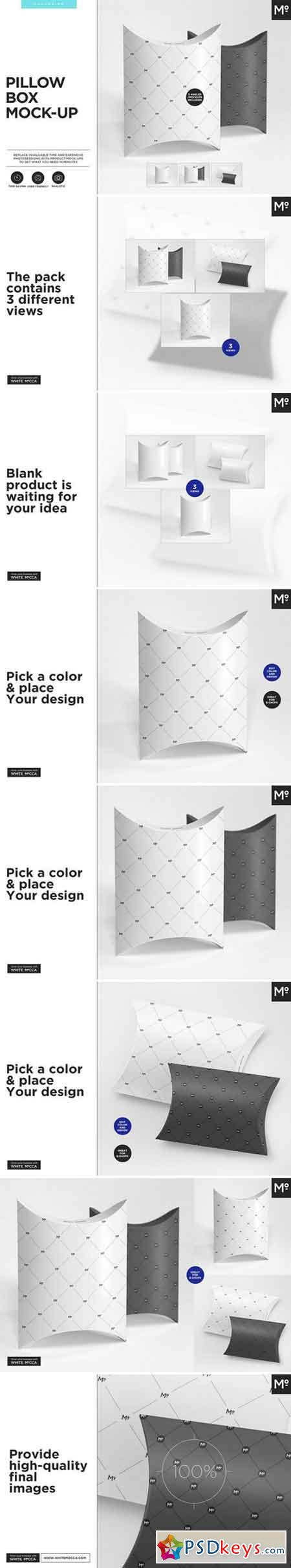 Pillow Box Mock-ups Set 1955374