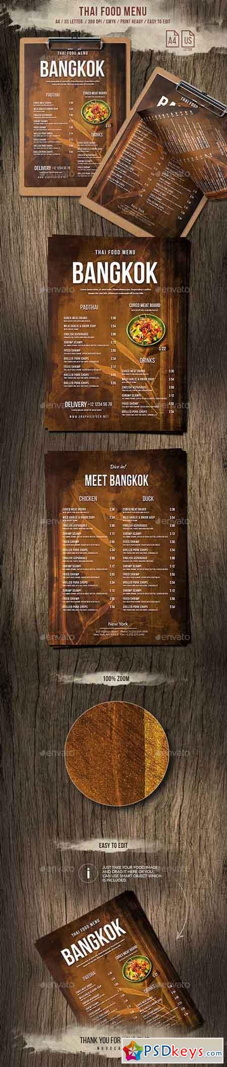 Thailand A4 and US Letter Menu 20888876
