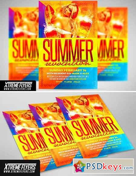 Summer Party Flyer Template 1811034