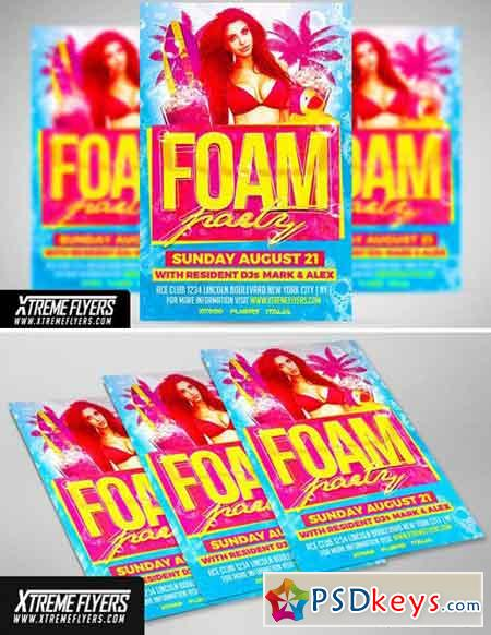 Foam Party Flyer Template 1811206
