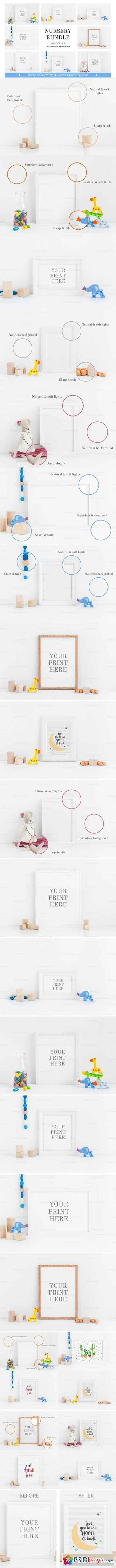 Bundle Nursery print mockups vol.1 1991639