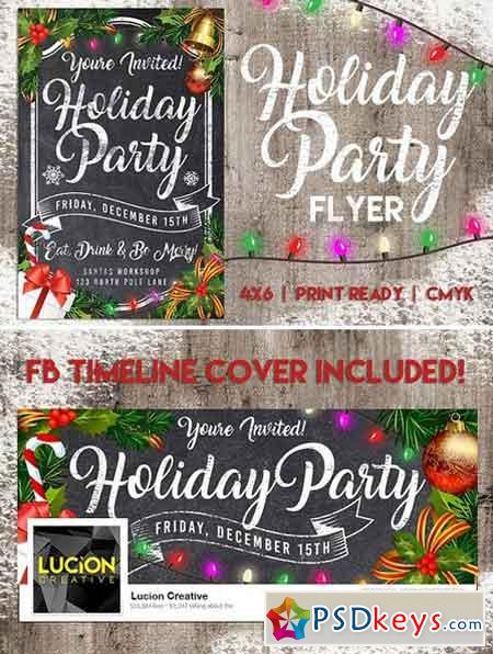 Chalk Holiday Party Flyer 1957467