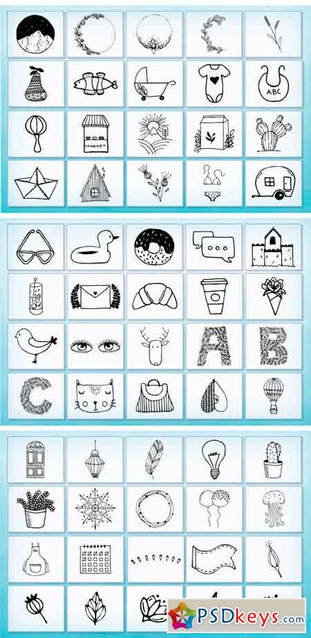 Hand Drawn Elements Vector and PNG 1988698