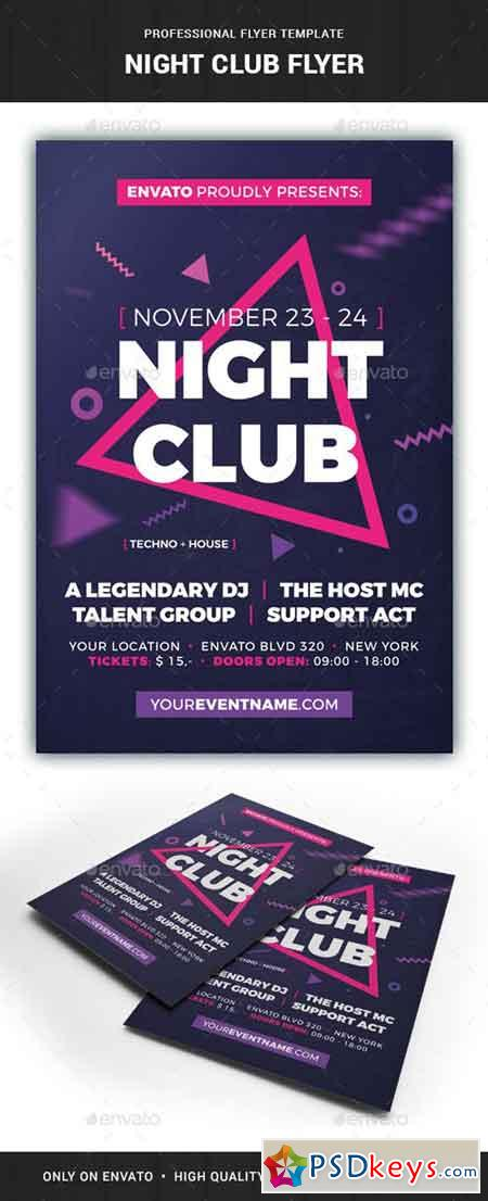 Night Club Flyer Template 20952439