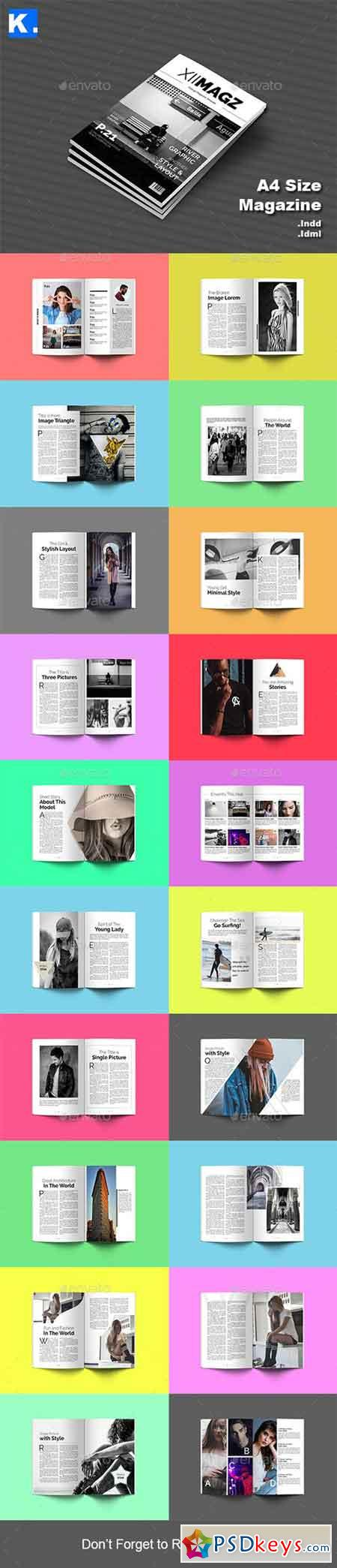 Indesign Magazine Template 4 20944565 » Free Download Photoshop ...