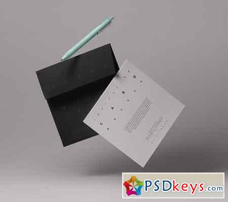 Gravity Card Psd Invitation Mockup Free Download Photoshop