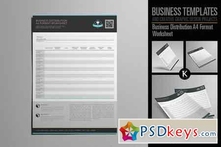 Business Distribution A4 Format 2005431