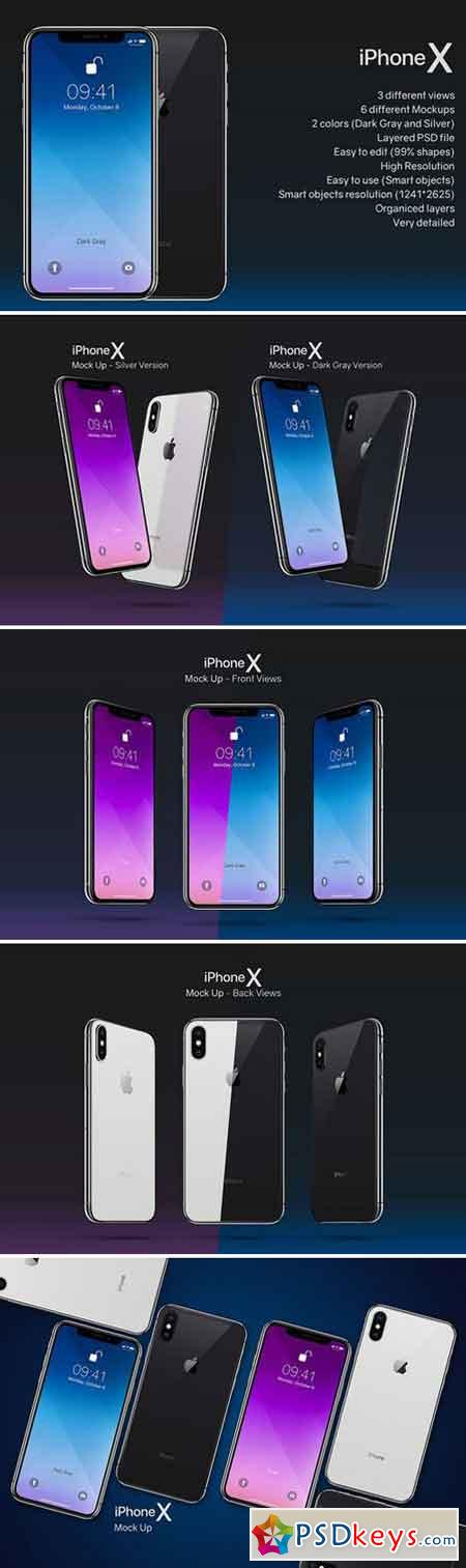 Mockup Composition Iphone X 2006811