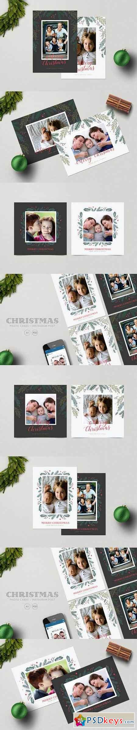 Christmas Photo Cards+ Instagram Post