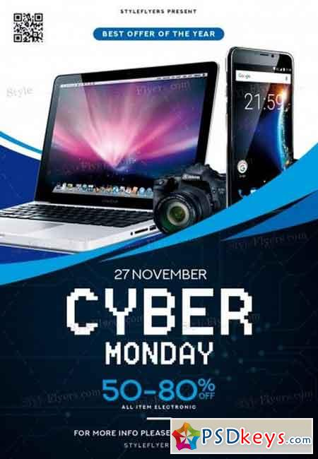 Cyber Monday PSD Flyer Template