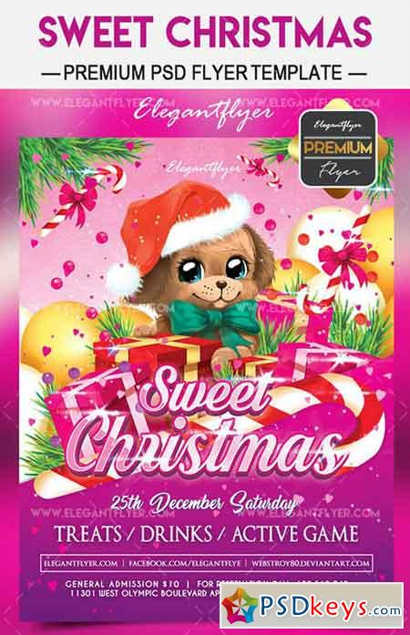 Sweet Christmas Flyer Psd Template Facebook Cover Free