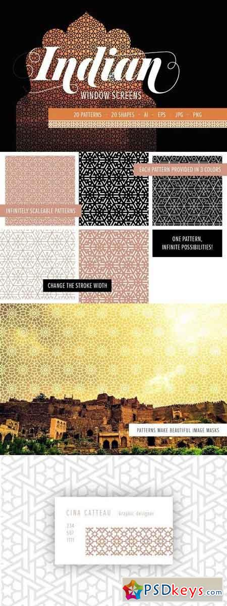 Indian Window Screens PATTERNS 1346733