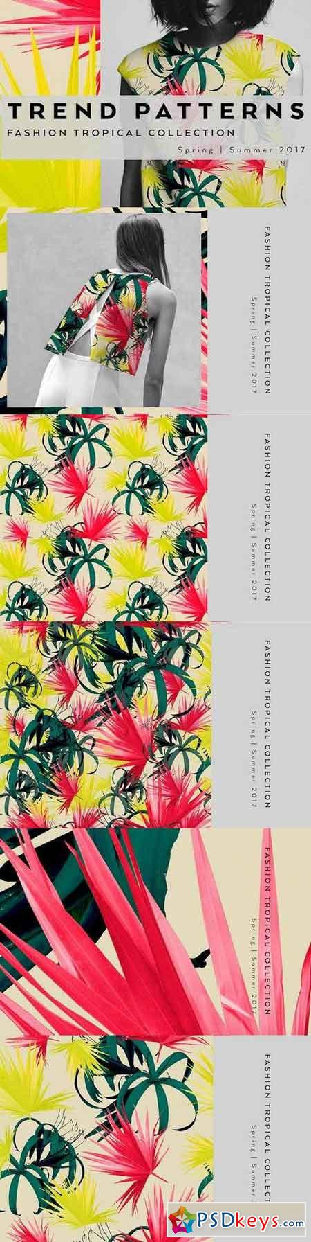 Seamless floral patterns with leaves 1347129