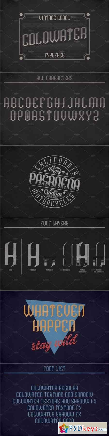 Coldwater Label Typeface 1440570