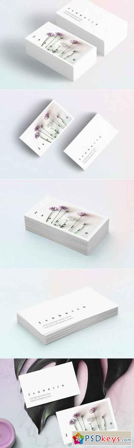 Isabella-floral business card 1429319