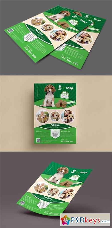 Pet Shop Flyer Template Free Download Photoshop Vector Stock Image