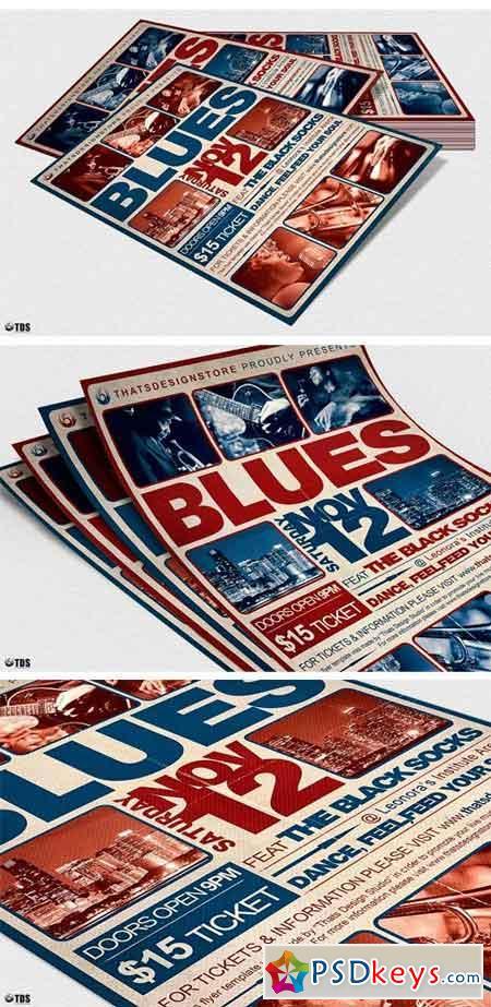 Blues Festival Flyer Template V2 2021256
