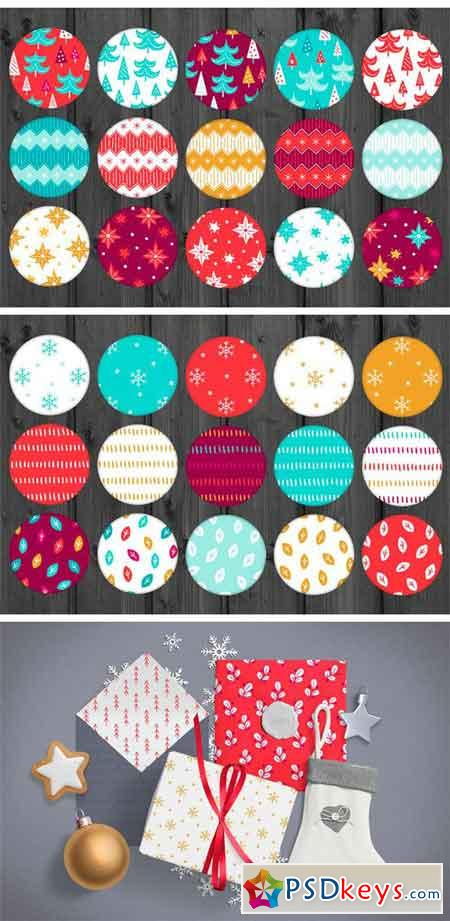 60 Christmas Seamless Patterns 1986473