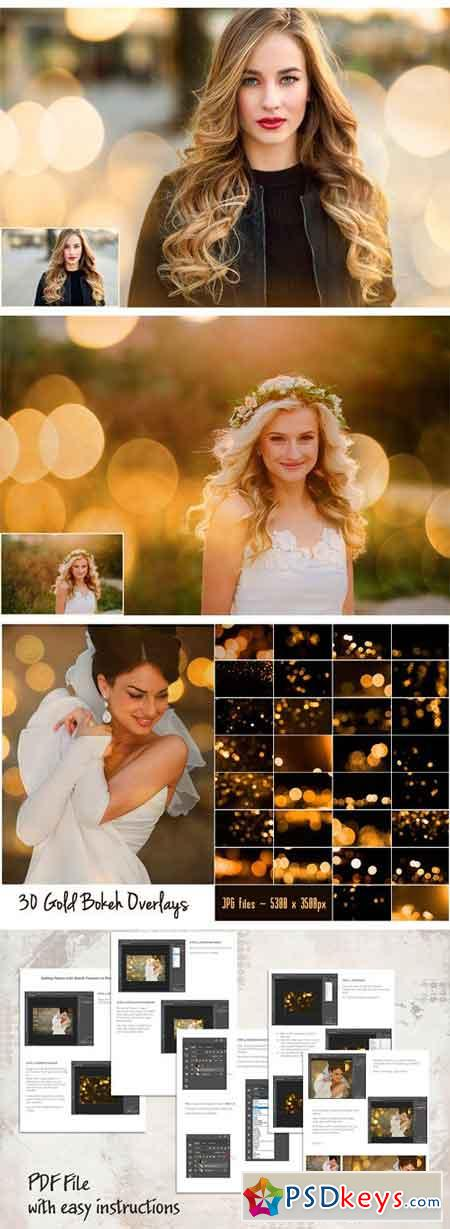 Gold Bokeh Overlays 2022437