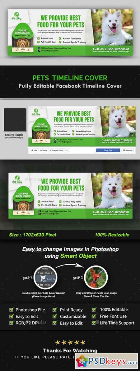 Pet Facebook Timeline Cover Template 20971532