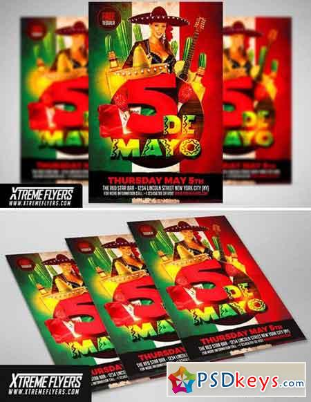 5 De Mayo Flyer Template 1809841