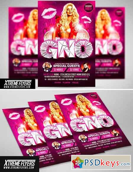 Girls Night Out Flyer Template 1811069
