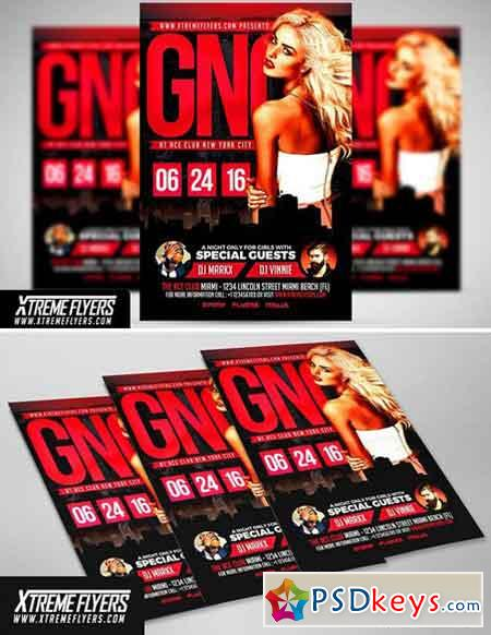 Girls Night Out Flyer Template 1810026