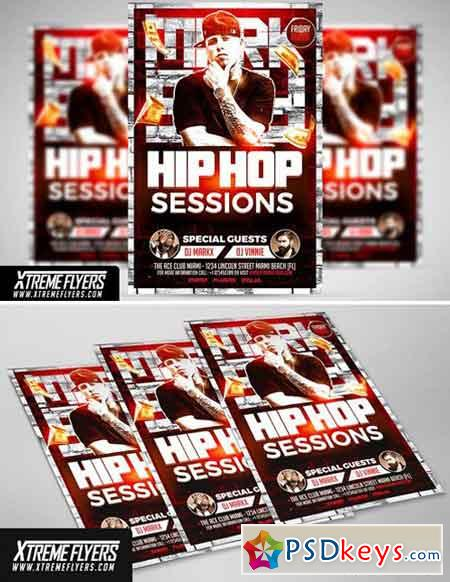 Hip Hop Flyer Template   Free Download Photoshop Vector