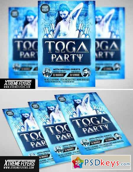Toga Party Flyer Template 1809992