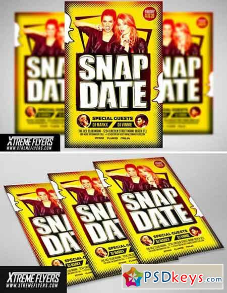Snapdate Party Flyer Template 1810009