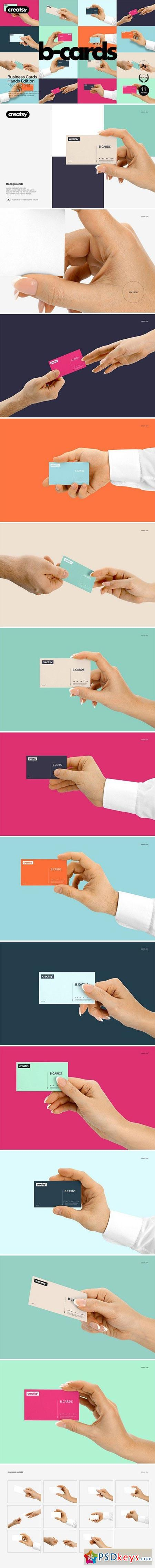 Business Cards Mockup Hands Edition 2007173