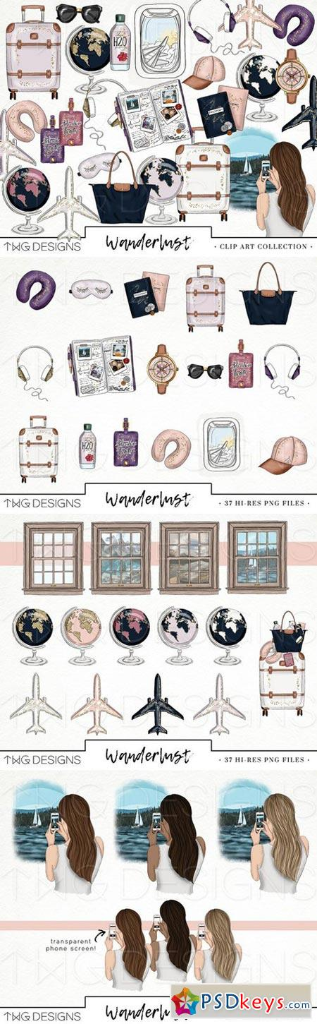 Travel Fashion Girl Clip Art 2006577