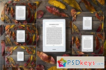 E-Book Reader, 6 PSD Mock-Ups,BUNDLE 2022164