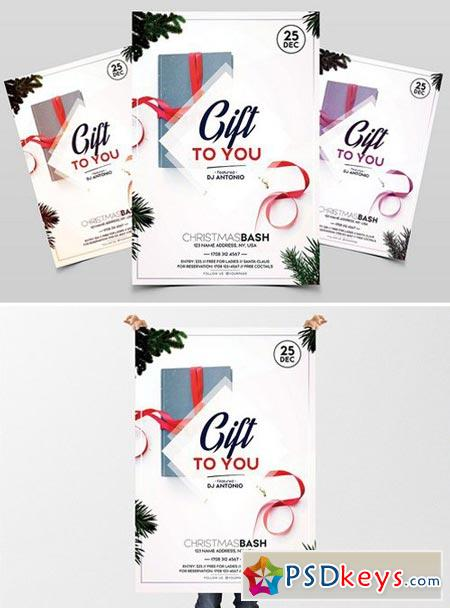 Gift to You - Christmas PSD Flyer 2025047