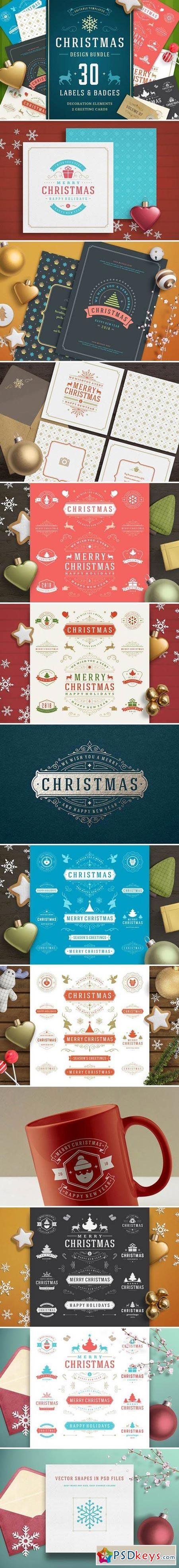 Christmas 30 labels and badges 1920719