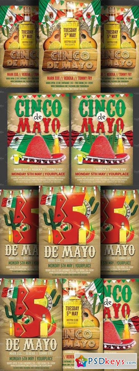 Cinco De Mayo Flyer Bundle 1393120