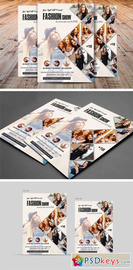 Fashion Show Flyer Template 2038832
